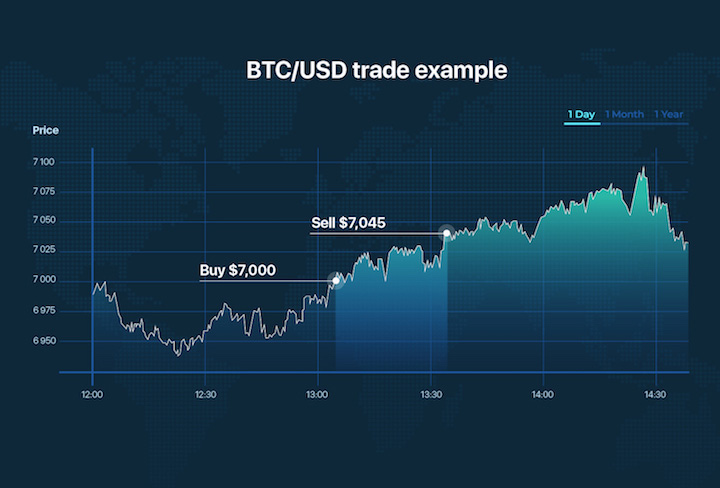 BTC/USD trade example